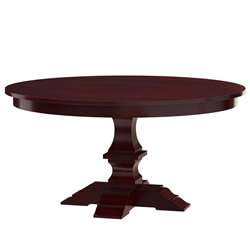 Aripeka Solid Mahogany Wood Pedestal Round Dining Table