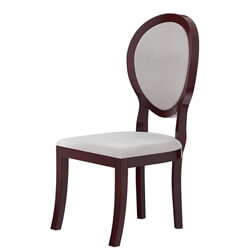 Aripeka Solid Mahogany Wood Upholstery Dining Chair