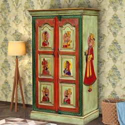 Wadley Handpainted Reclaimed Wood Traditional Armoire