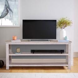 Voorhees Reclaimed Wood Open Shelve 2 Tier Rustic TV Stand