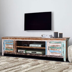 Praze Distressed Reclaimed Wood TV Stand