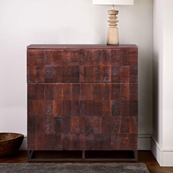 Asnia Handcrafted Reclaimed Wood 3 Drawer Dresser