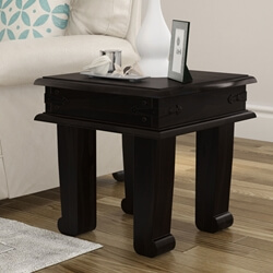 Silverton Solid Wood Square End Table