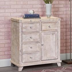 Millersburg Distressed Reclaimed Wood 5 Drawer Storage Cabinet