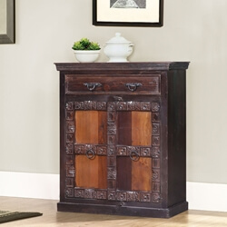 Altoona Solid Reclaimed Wood Single Drawer Storage Cabinet