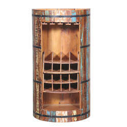 Baileyton Reclaimed Wood Wine Bar Cabinet