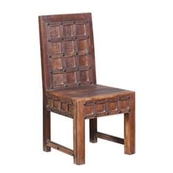 Malden Handcrafted Waffle Back Reclaimed Wood Dining Chair