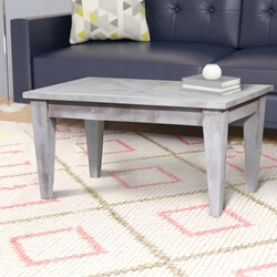Parma Farmhouse Style Reclaimed Wood Rustic Coffee Table
