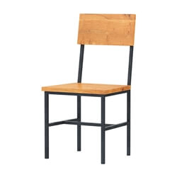 Karval Rustic Solid Wood Industrial Dining Chair