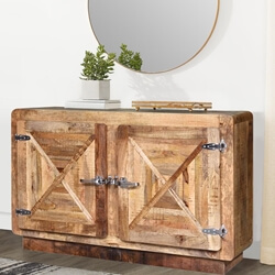 Beclabito Rustic Reclaimed Wood 2 Door Storage Cabinet