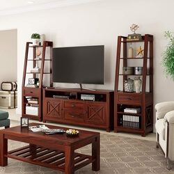 Calexico Rosewood 3 Piece TV Unit Entertainment Center
