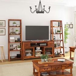 Hatfield Rosewood 3 Piece TV Unit Entertainment Center with Bookshelf