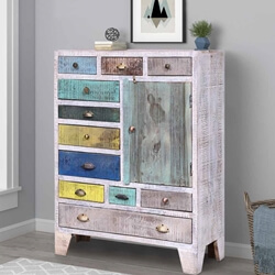 Tualatin Distressed Reclaimed Wood Chest of Drawer