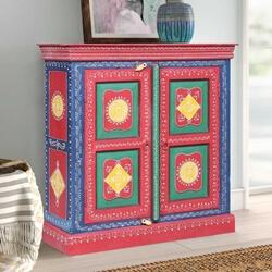 Elk Grove Hand Painted Kitchen Storage Cabinet