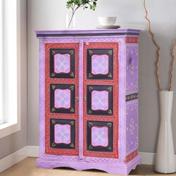 Merida Hand Painted Solid Wood Storage Cabinet