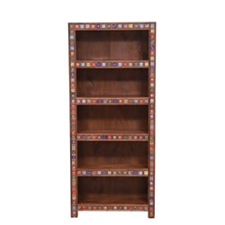 Kahului Reclaimed Wood 5 Shelf Standard Bookcase