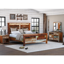 Eunola Reclaimed Wood 4 Piece Bedroom Set