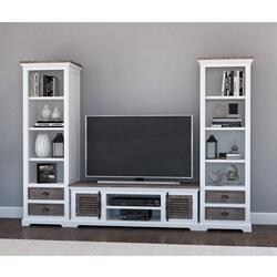 Danville Modern Teak and Solid Wood Entertainment Center