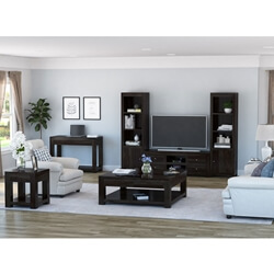 Glencoe Contemporary Style Solid Wood 7 Piece Living Room Set