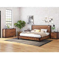 New Orleans Solid Wood 4 Piece Bedroom Set