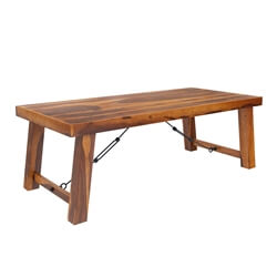Lincoln Transitional Rustic Solid Wood Dining Table