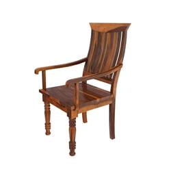 Mediterranean Rustic Solid Wood Arm Chair