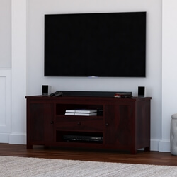 Murrieta  Rustic Solid Wood TV Stand & Media Console With Drawer