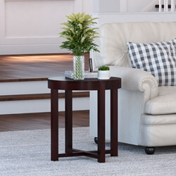 Murrieta Rustic Solid Wood Round End Table