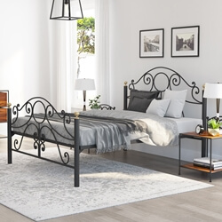 Nome Industrial Scrollwork Iron Bed Frame