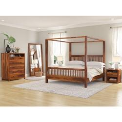 Kodiak Rustic Solid Wood 4-Piece Bedroom Set