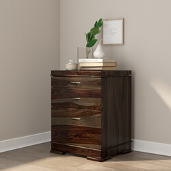 Blanford Modern Rustic Solid Wood 3 Drawer File Cabinet