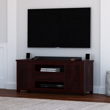 Murrieta Rustic Solid Wood Tv Stand Media Console With Drawer