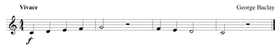 "Grade 1 trumpet sight reading exercise, ""Fast and Easy"" by George B. on SightReadingMastery"