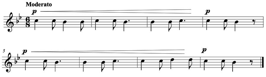 "Grade 4 voice sight reading exercise, ""Whole Steps"" by Mark B. on SightReadingMastery"