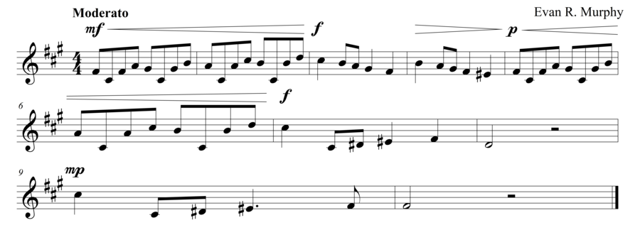 "Grade 7 sight singing exercise, ""Nocturne in F# Minor"" by Evan M. on SightReadingMastery"