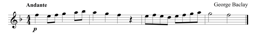 """Grade 1 flute sight reading exercise, """"Passing Through"""" by George B. on SightReadingMastery"""