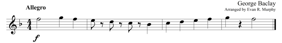 """Grade 1 guitar sight reading exercise, """"Playful Picking"""" by George B. on SightReadingMastery"""