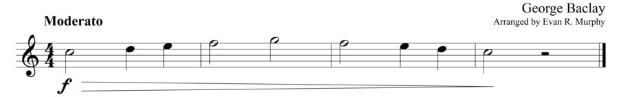 "Grade 1 guitar sight reading exercise, ""Gradually Decreasing"" by George B. on SightReadingMastery"