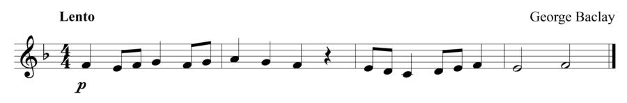 "Grade 1 trumpet sight reading exercise, ""Lento"" by George B. on SightReadingMastery"