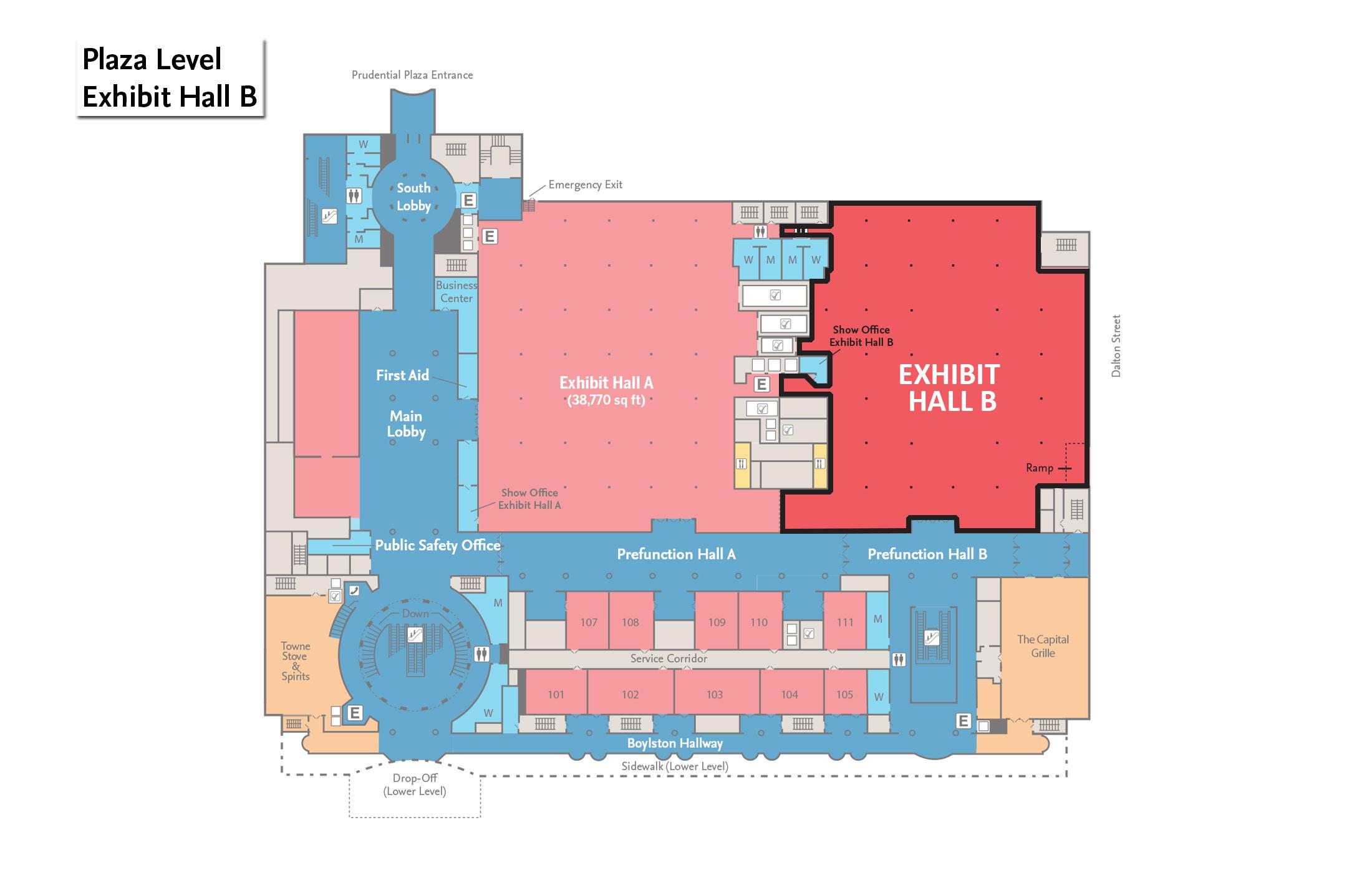 Boston Convention Center Floor Plan Exhibit Halls Signature Boston