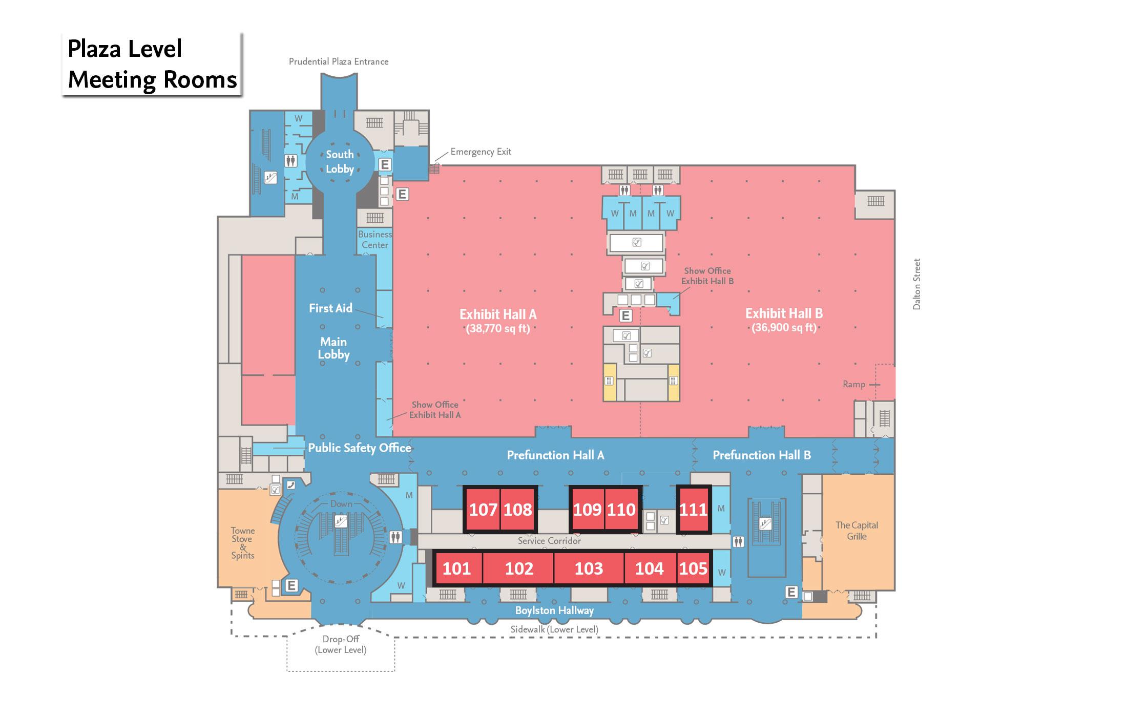 Hynes Convention Center Floor Plan Meze Blog