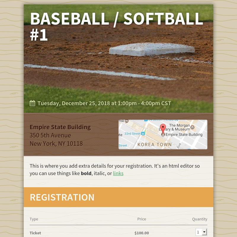 Baseball / Softball #1