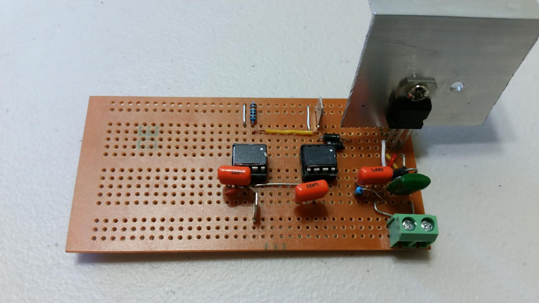 My First Tesla Coil Mosfet Version Silicon Junction Testing Circuit Here I Used Dual Drivers In Parallel As Only Had 15a Available And They Ran Hot On Their Own