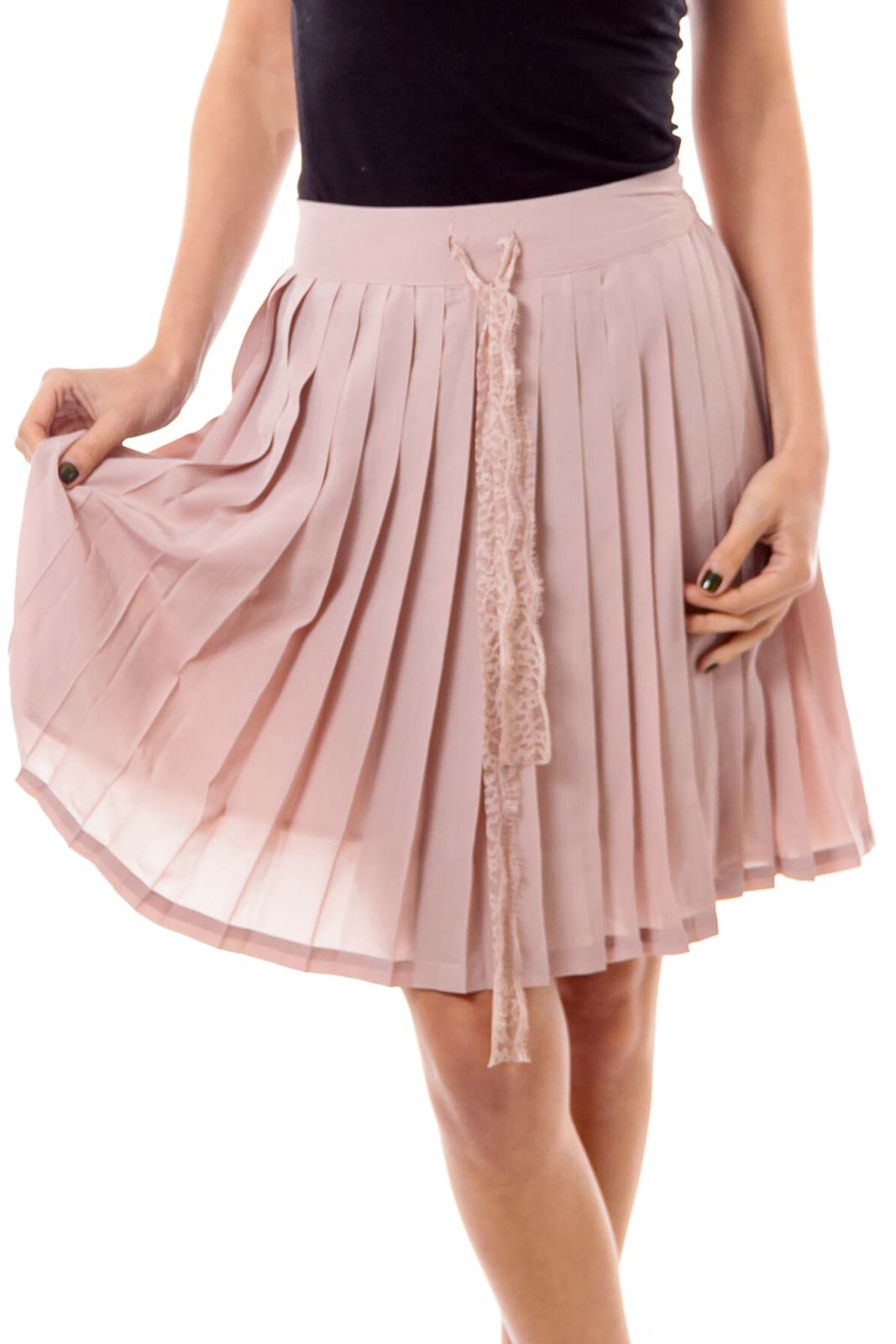 Dirty Beige Pleated Skirt