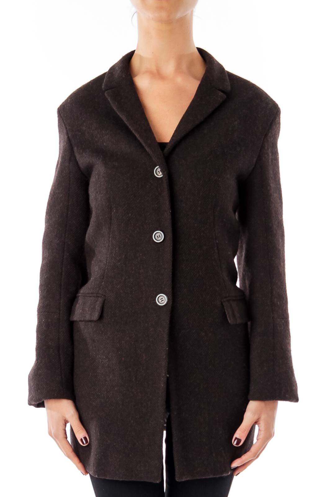 Brown Wool  Vintage Jacket