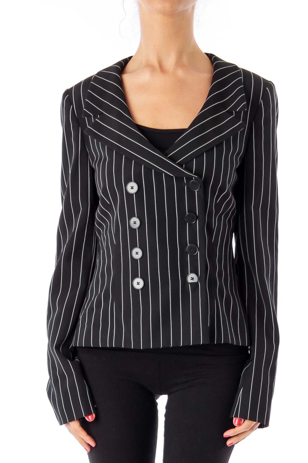 Black & White Stripe Blazer