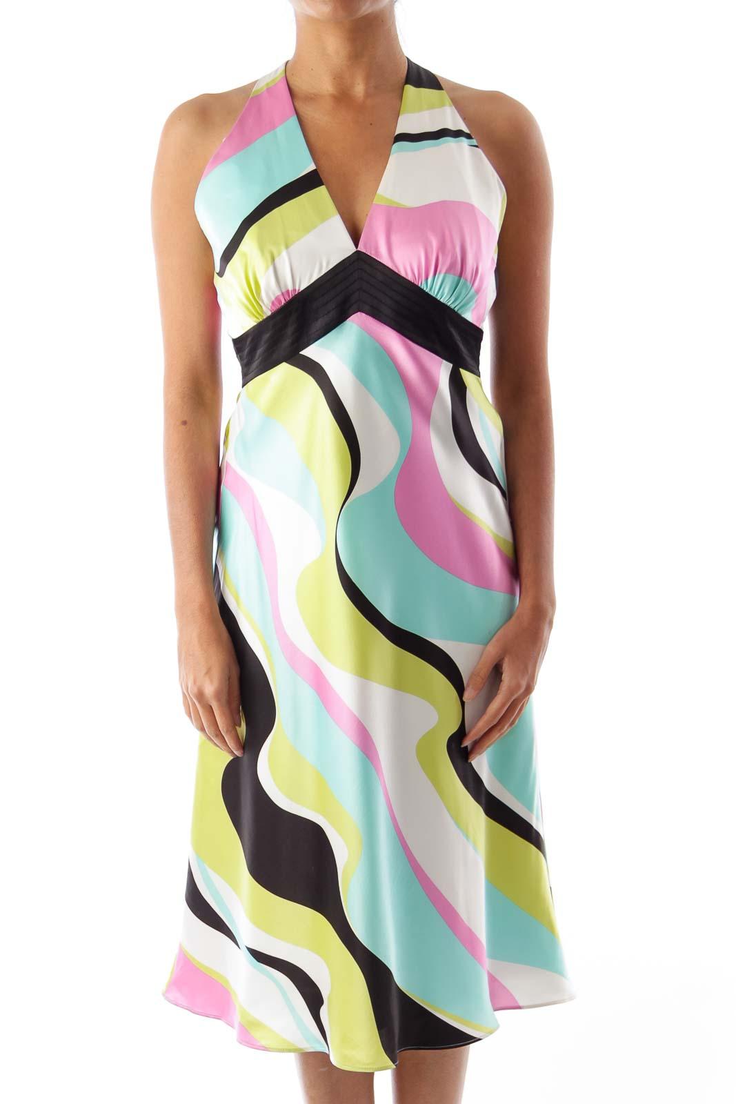 Print Halterneck Dress