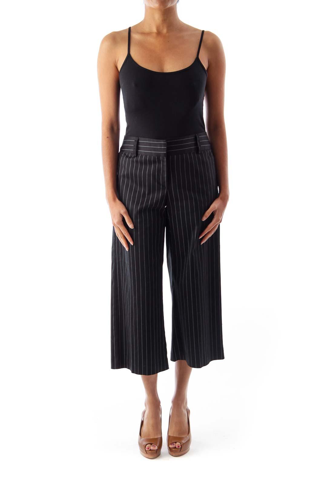 Black & white Stipe  Crop Pants