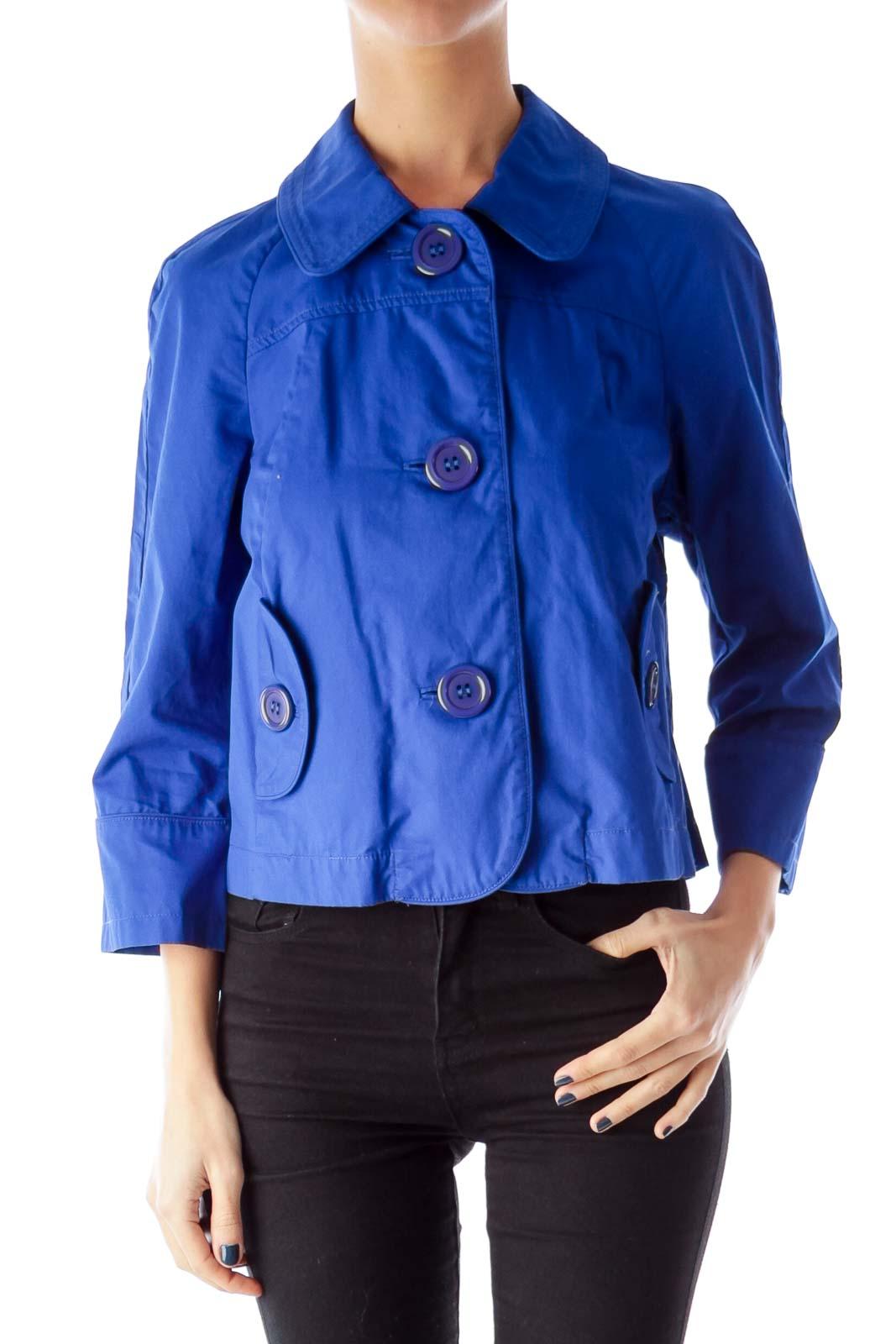 Blue 3/4 Sleeve Jacket