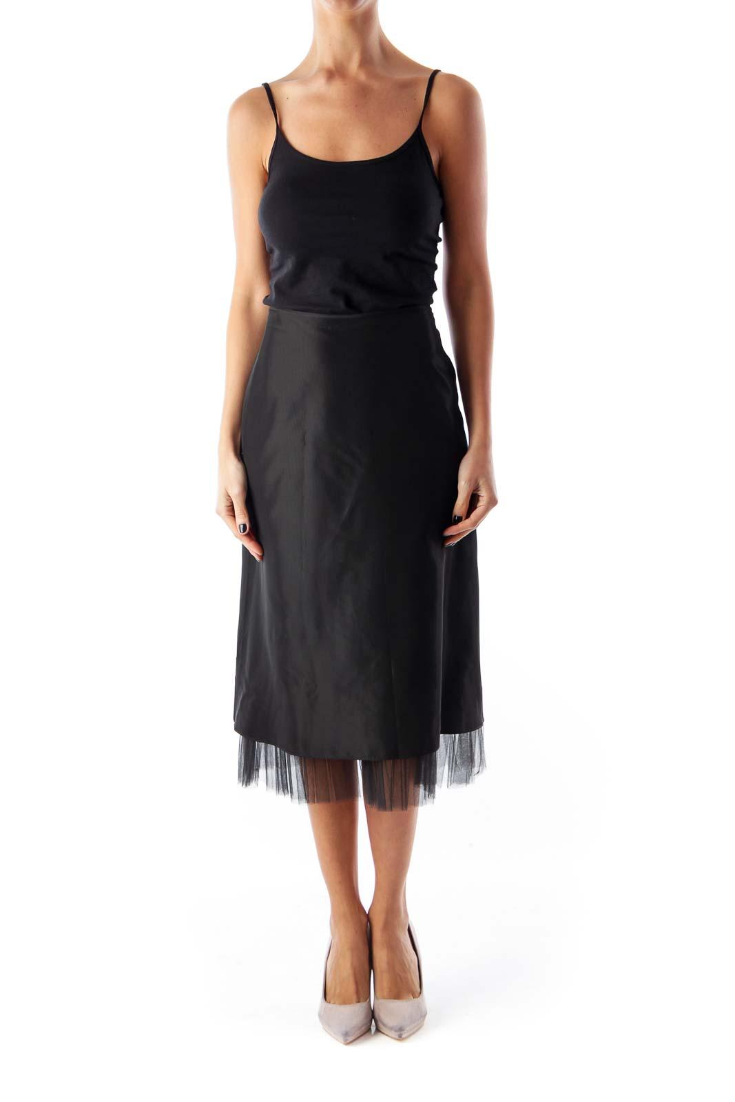 Black Tule Detail Skirt